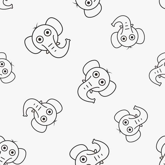 Elephant Head Drawing Free Vectors Images Wowpatterns