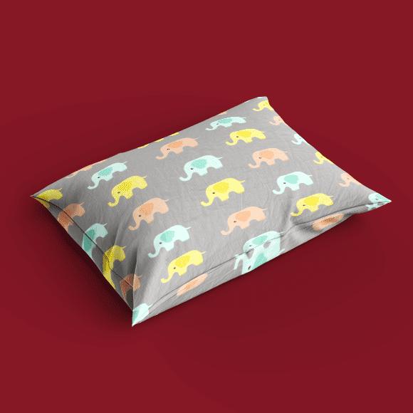 Baby Elephants Pillow Design