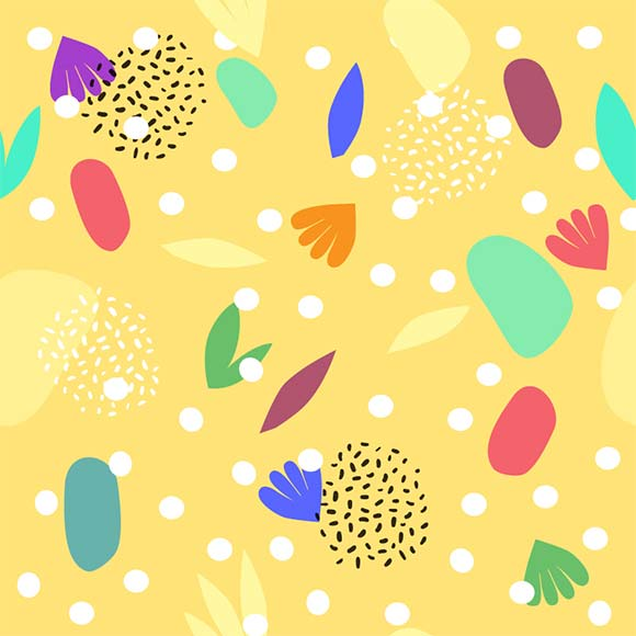Tropical leaves seamless vector pattern. Summer exotic beach background