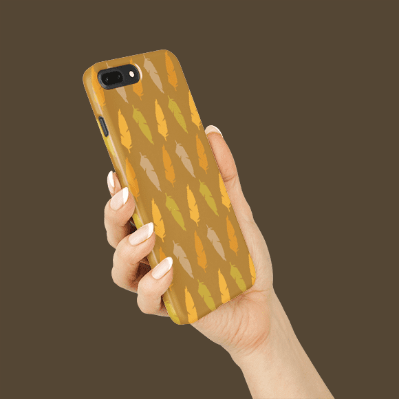 Feather on Phone Cover