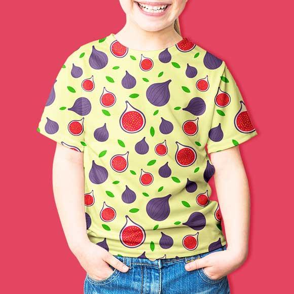 Fig slices fruit print kids t-shirt