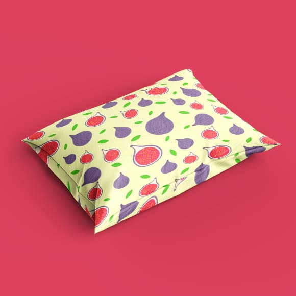 Fig slices pillow cover