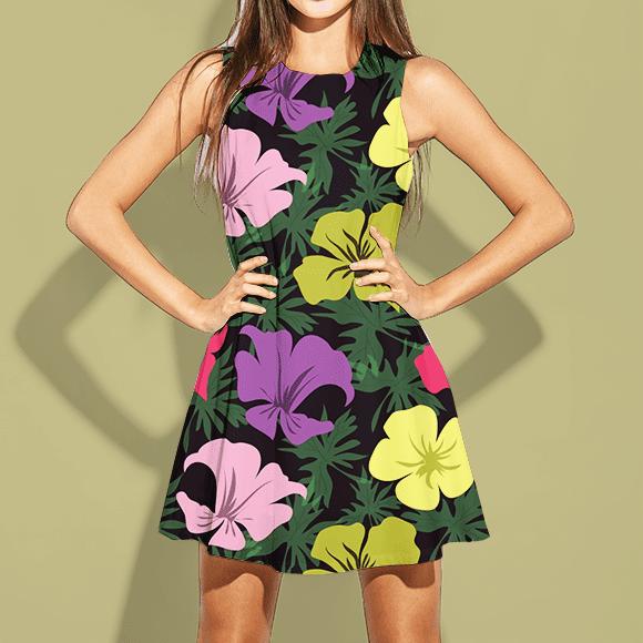 blossom floral print dress
