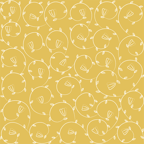 gold floral vector pattern
