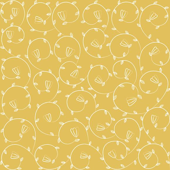 Elegant classy floral border seamless vector pattern