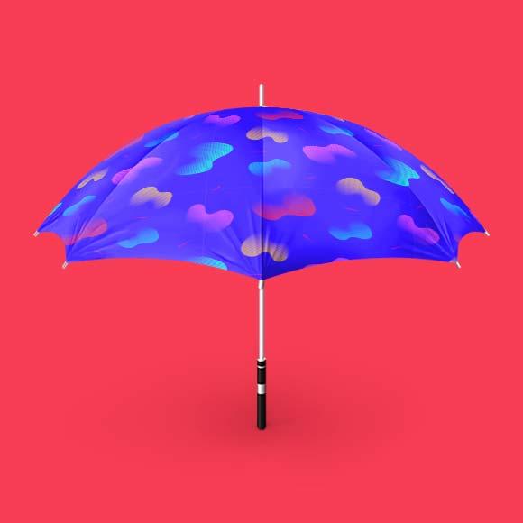 Fluid shapes design umbrella