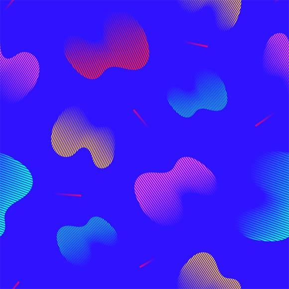 Fluid shapes pattern