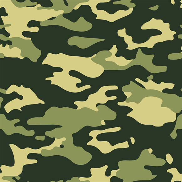 Green forest army camouflage seamless pattern