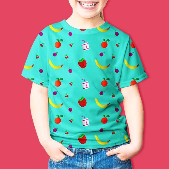 Fruits and berries print kids t-shirt