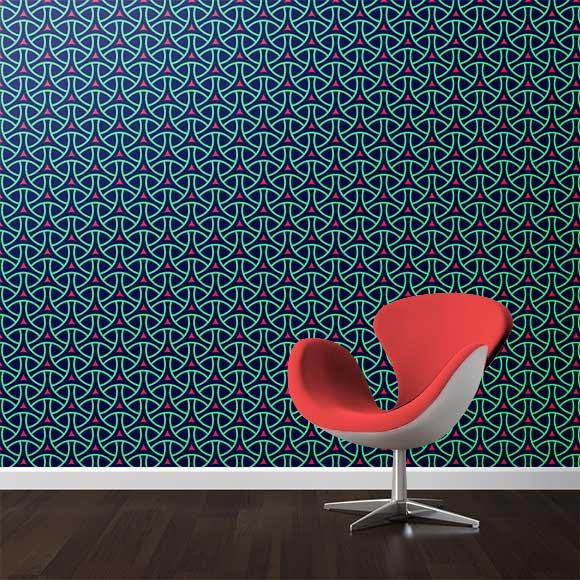 Abstract shapes wall texture
