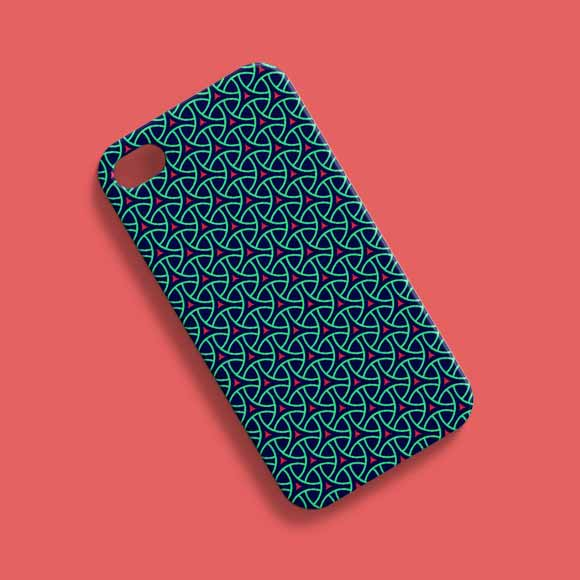 Abstract shapes phone cover