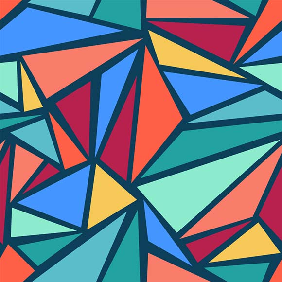 Seamless modern color abstract geometric shapes pattern, ai file format
