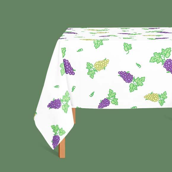 Grapes printed table cloth