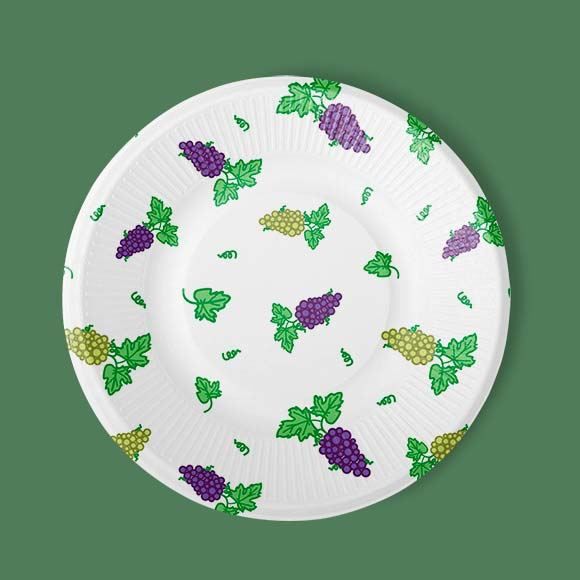 Grapes printed kitchen plate