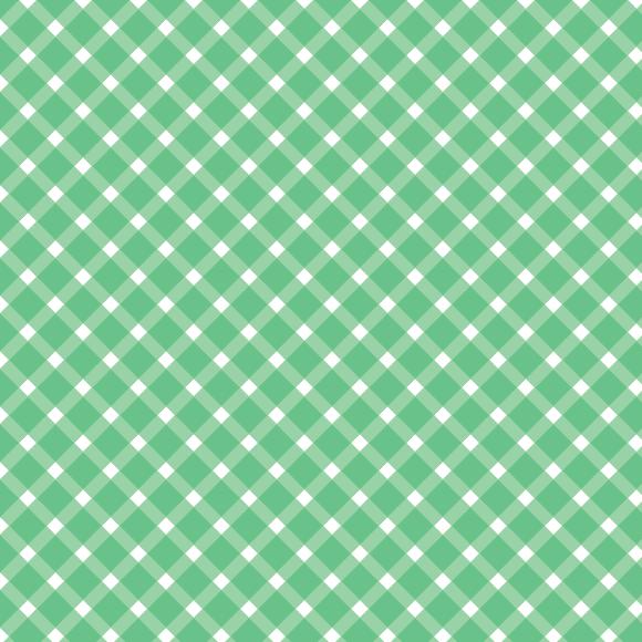 Diagonal diamond lines seamless vector pattern. White and green checks