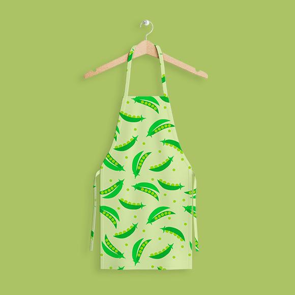 Green Peas Design on Apron