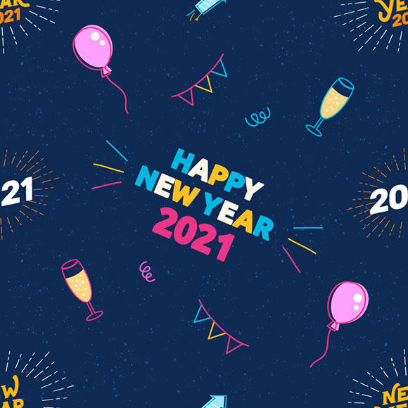 Happy new year 2021 pattern