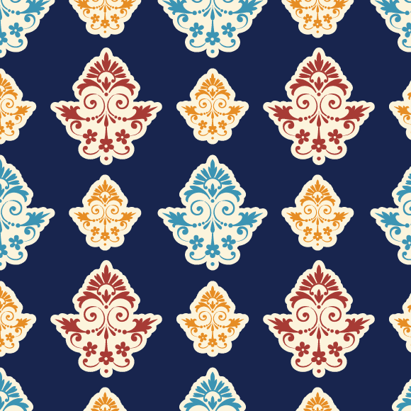 Indian Ethnic Pattern with Floral Design
