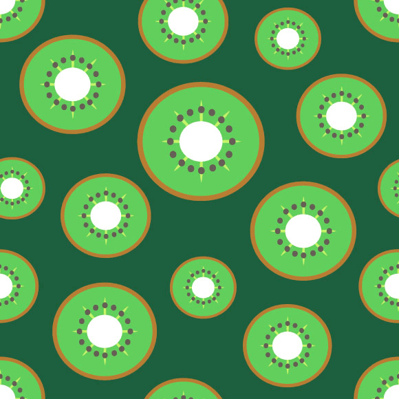 Kiwi slice seamless vector pattern. Citrus fruits design background