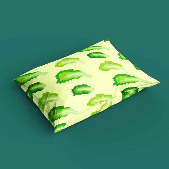 Lettuce Vegetable Pattern on Pillow Cover