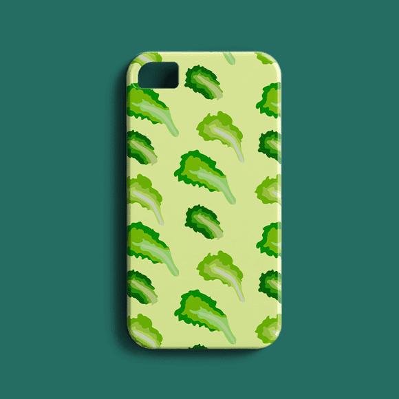 Lettuce Vegetable Print Phone Case