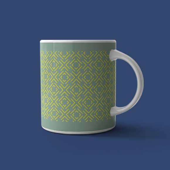 Dashed Diagonal Lines, Coffee mug.