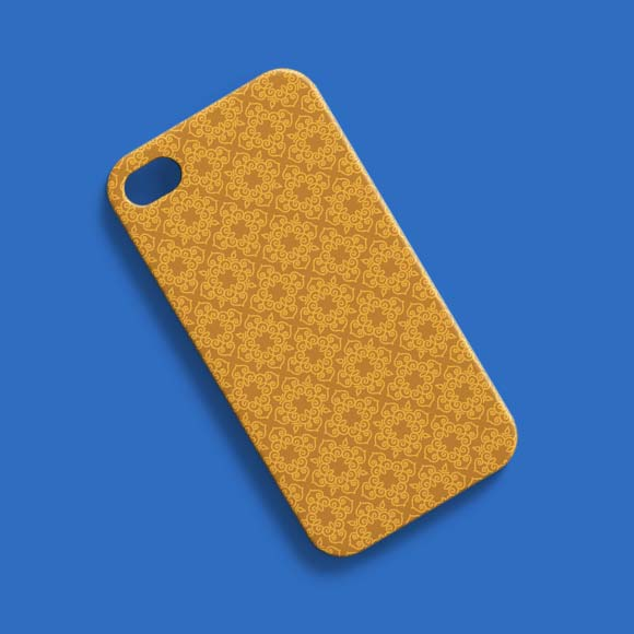 Mono Line on Phone Case, 800X800 Pattern Size.