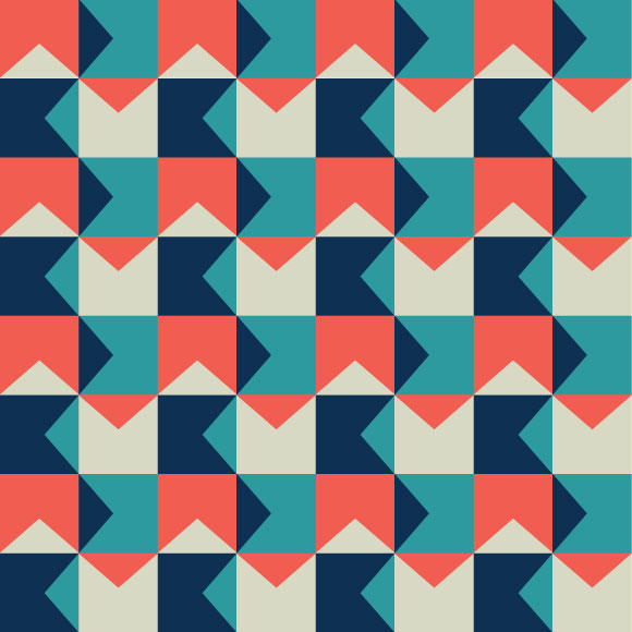 Multicolor tessellation vector pattern. Geometric shapes background