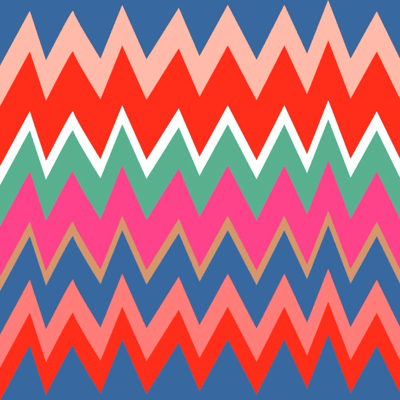 Multicolored zigzag seamless pattern