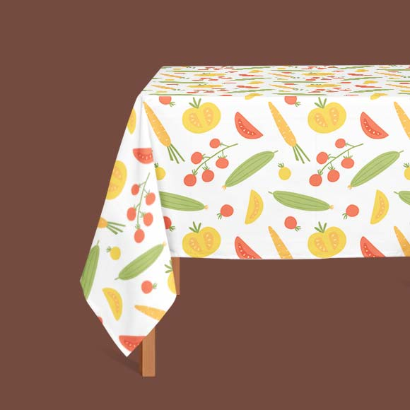Organic vegetables print table cloth