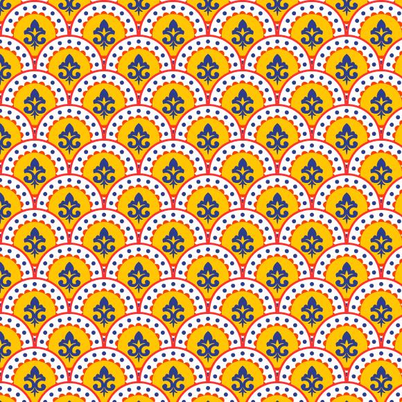 Ornate Print Pattern