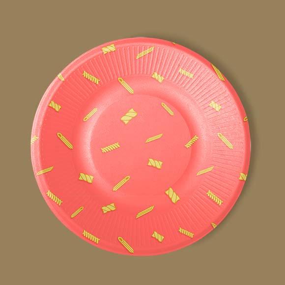 Pasta pattern print plate