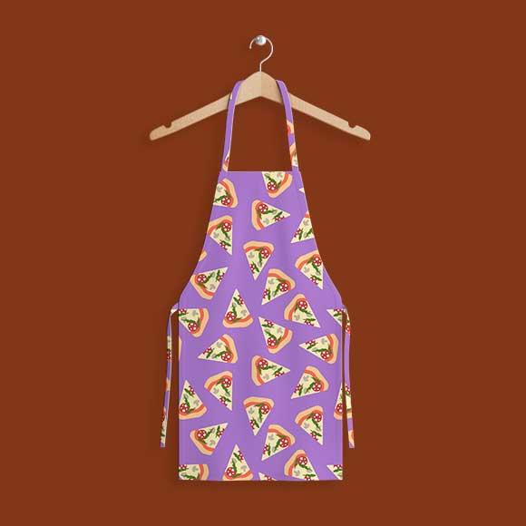 Pizza slices kitchen apron