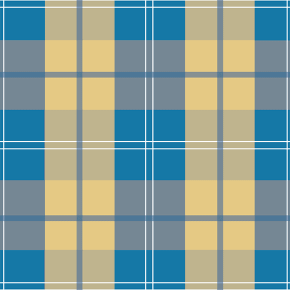Jersey Knit Plaid seamless vector pattern. Blue and yellow checkered