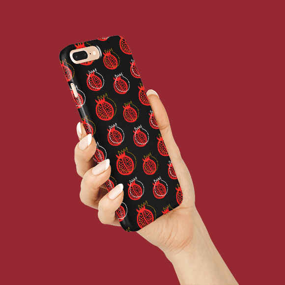 Pomegranate Vector Pattern on Phone Cover
