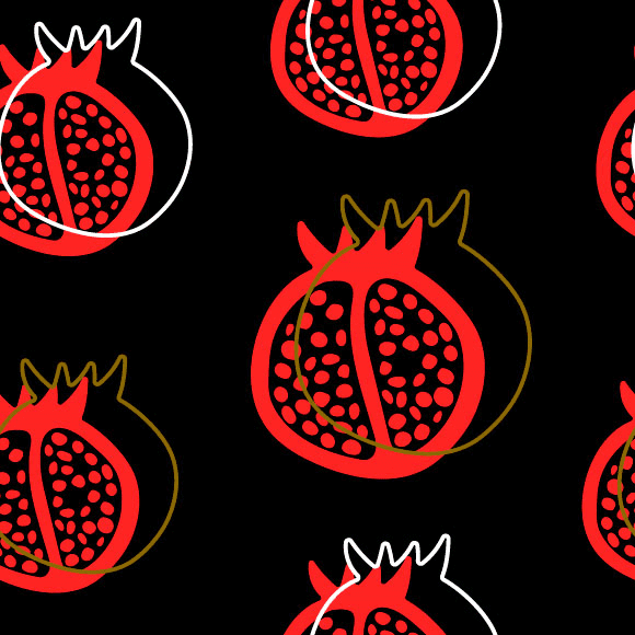 Pomegranate Vector Pattern