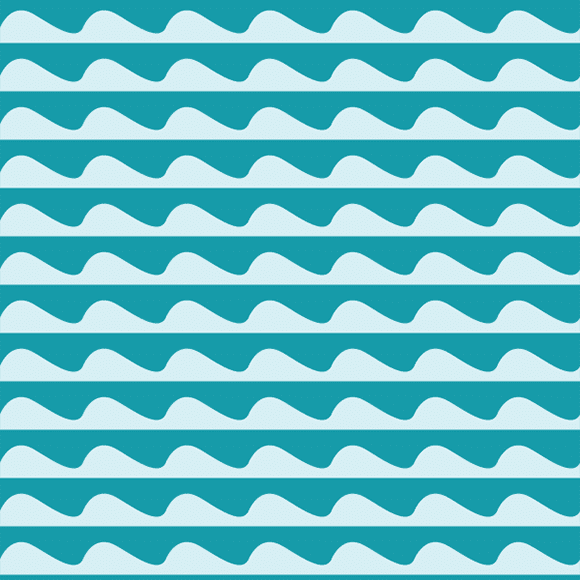 Abstract background sea waves pattern. Vector wavy line seamless design
