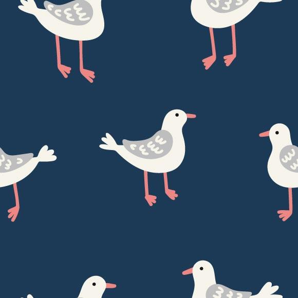 seamless seagulls pattern, eps file format