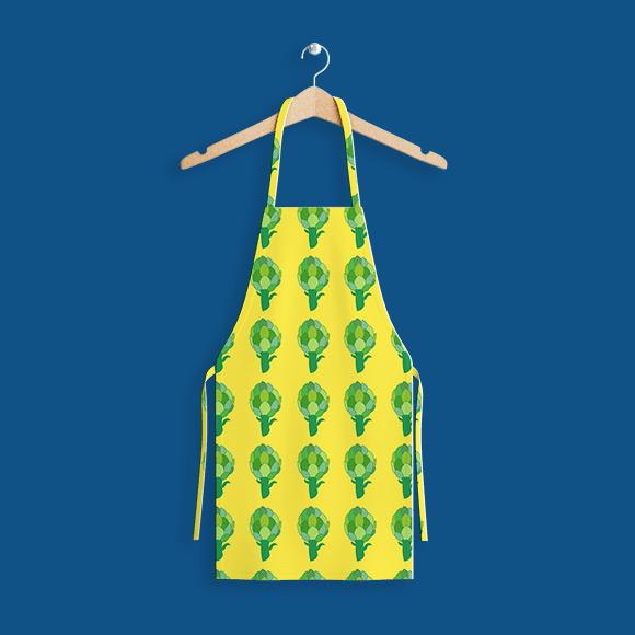 seamless artichoke pattern apron