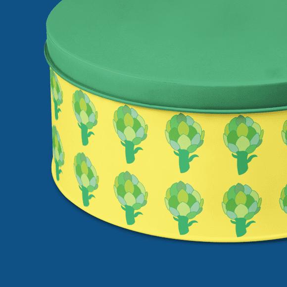 seamless artichoke pattern tiffin box