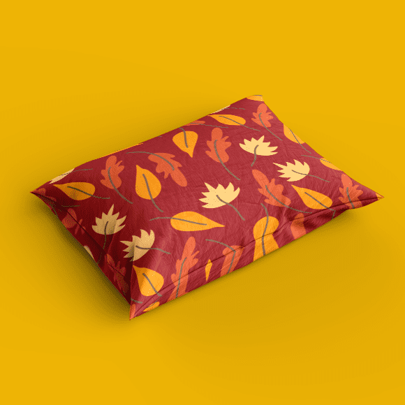 Pillow cover with seamless autumn pattern