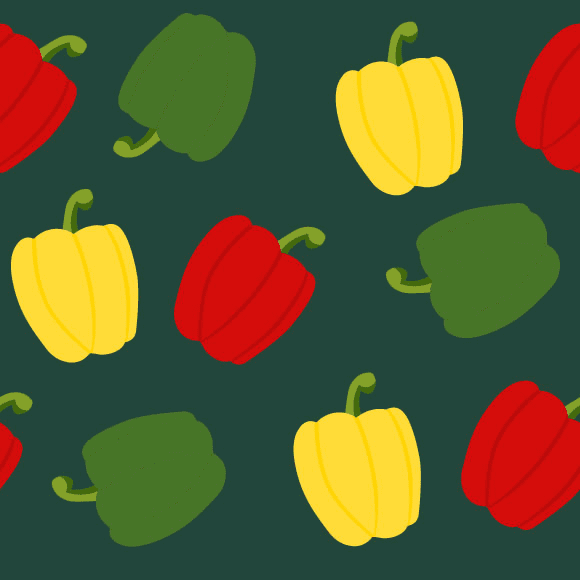 Red and green bell pepper pattern
