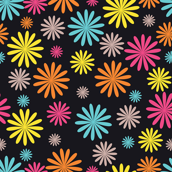 Colourful Seamless Floral Patterns
