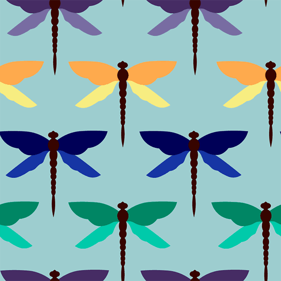 MultiColour Dragonfly Pattern