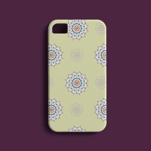 Light Yellow Floral Seamless Ethnic Phone Case