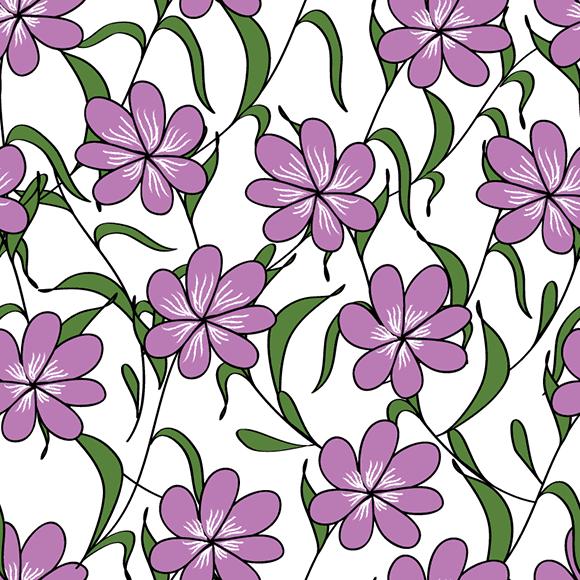 Blue Jasmine Flowers Pattern
