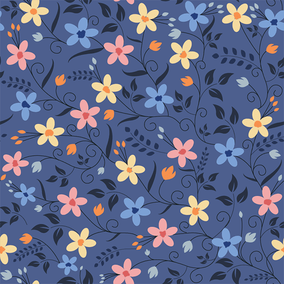 multicolour floral seamless pattern