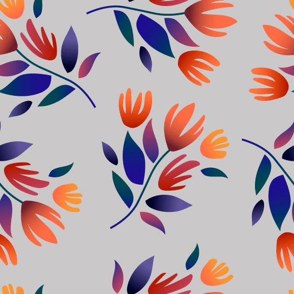 Botanical Flowers Pattern