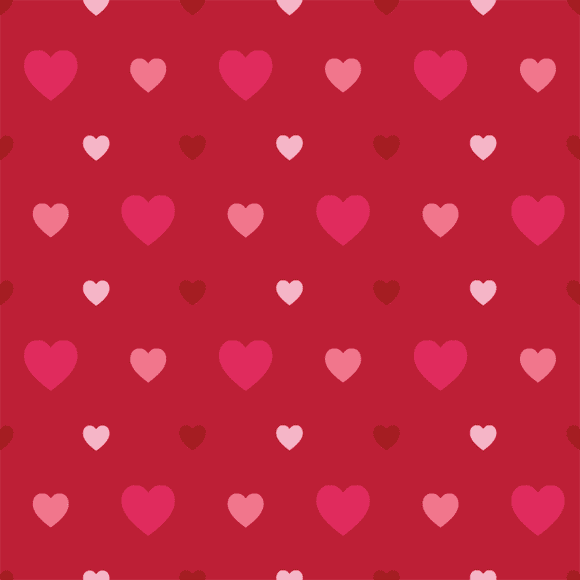 Colorful heart shape seamless vector pattern