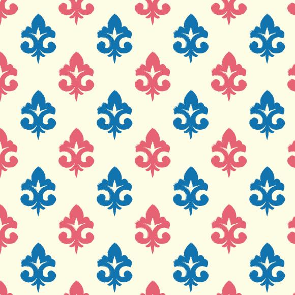 Ikat Paisley Pattern